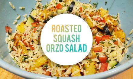 Roasted Squash Orzo Salad